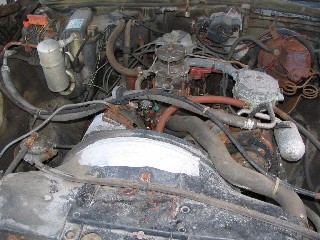 Engine without air cleaner